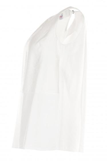 Купить белый льняной топ. Женская одежда. фото