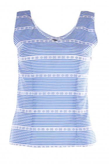 Топ в голубую полоску Деловая Женская Одежда фото
