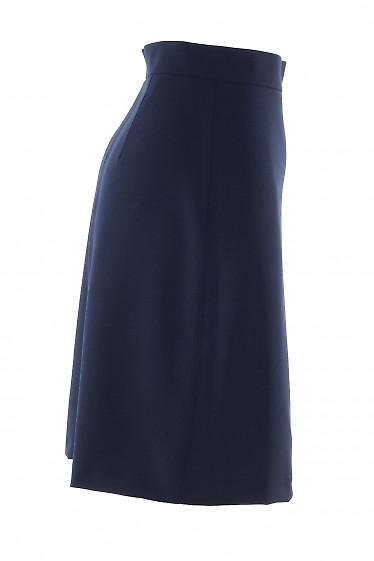 Синяя юбка трапеция