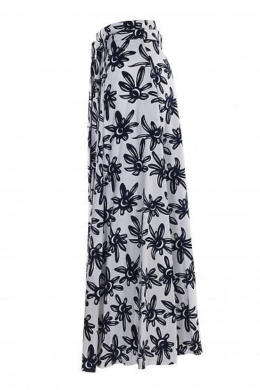 Купить льняную юбку в пол. Деловая женская одежда фото