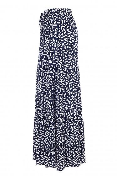 Купить синюю юбку макси. Женская одежда фото