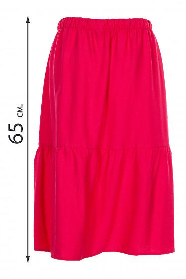 Купить малиновую летнюю юбку. Деловая женская одежда фото
