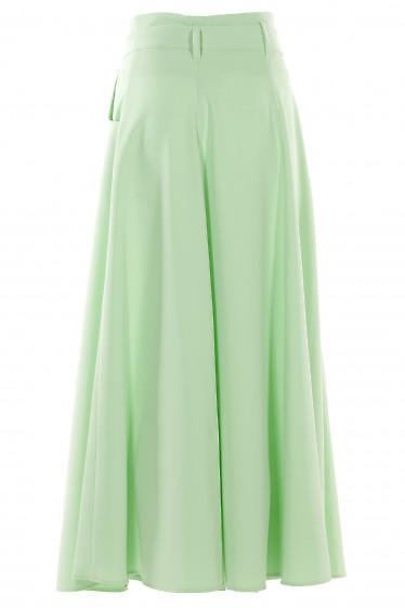 Салатовая юбка длина миди