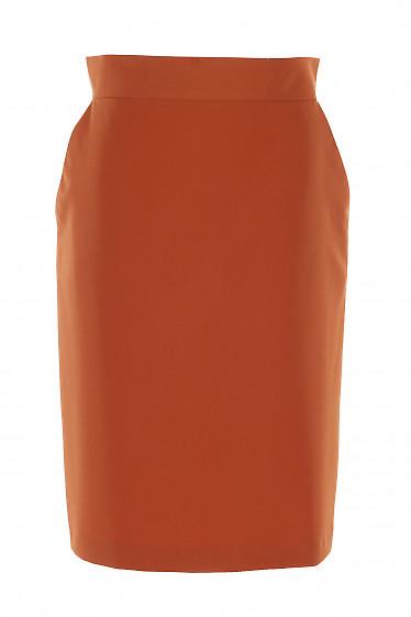 Юбка терракотовая с карманами. Деловая Женская Одежда фото