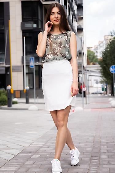Спідниця коротенька стильна білого кольору. Жіночий одяг.