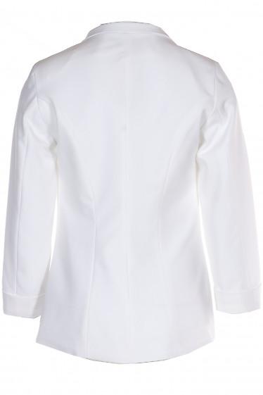 Жакет белый с воротником стойкой купить. Деловая женская одежда фото