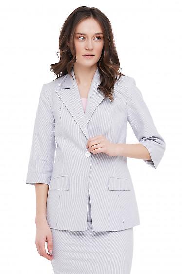Жакет белый в полоску Деловая Женская Одежда фото
