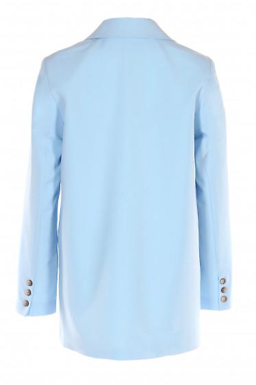 Купить жакет голубой оверсайз. Деловая женская одежда фото