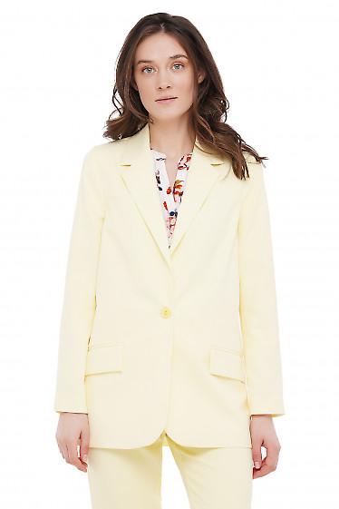 Жакет прямой желтый Деловая Женская Одежда фото