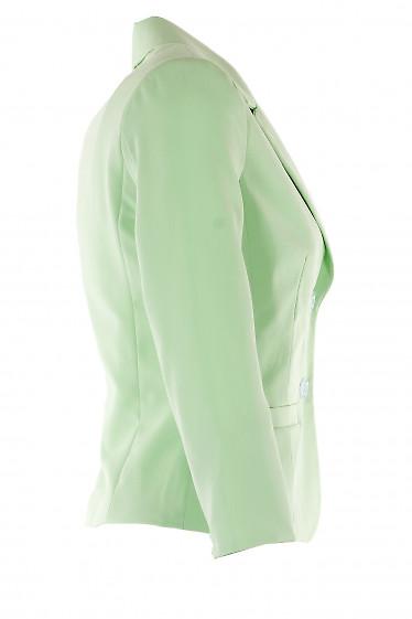 Салатовый жакет из костюмной ткани